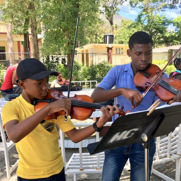 Group of Utah Symphony musicians and Music Director Thierry Fischer return to Haiti for music education service project