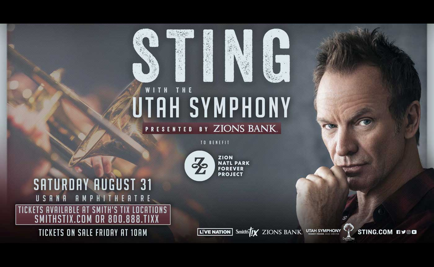 Sting with the Utah Symphony