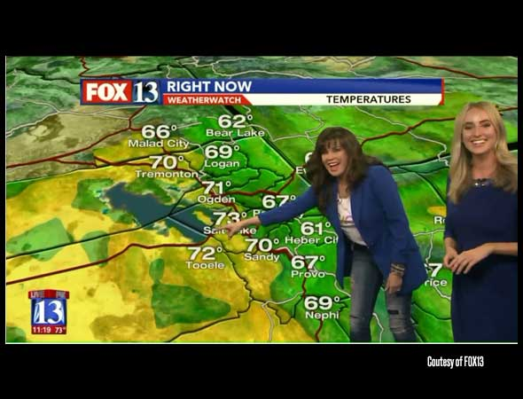 Fox13 – 'I want to do the weather!' Marie Osmond gives impromptu forecast on Fox 13