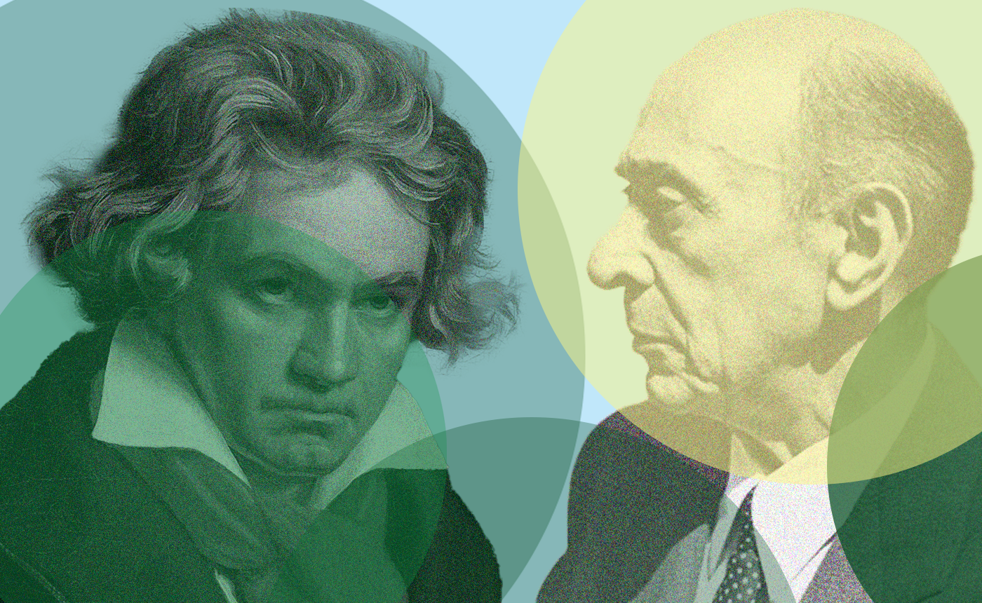 "Beethoven's ""Eroica"" with Schoenberg's Peace on Earth"