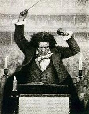 Beethoven conducting the 9th Symphony