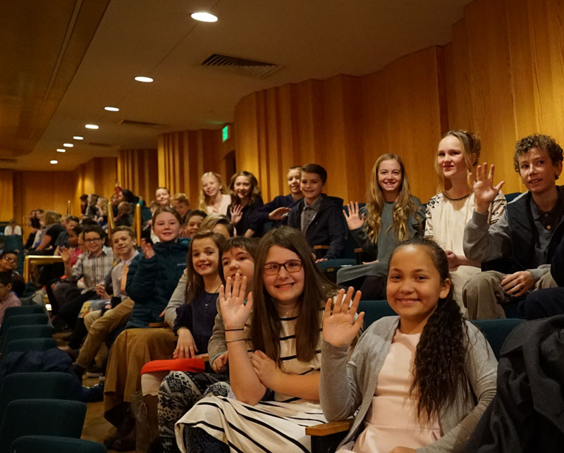 Students at a 5th grade concert at Abravanel Hall