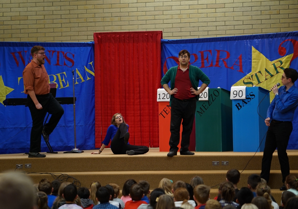 "Utah Opera's Resident Artists perform ""Who Wants to be an Opera Star?"" in Coalville, Utah"