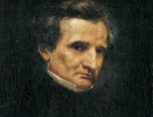 Portrait of Hector Berlioz by Gustave Courbet