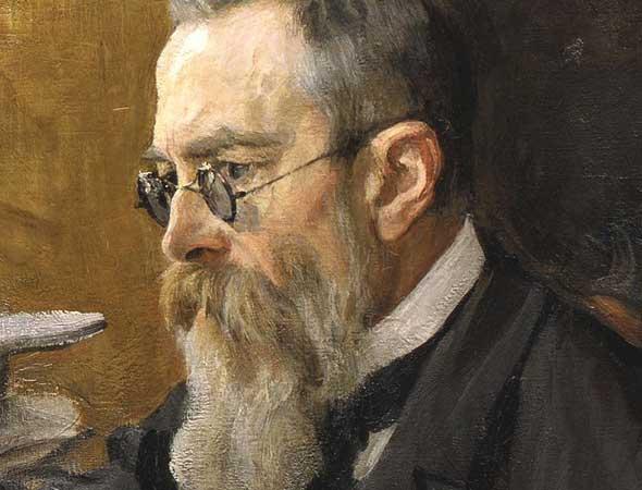 Portrait of Nikolai Rimsky-Korsakov in 1898 by Valentin Serov