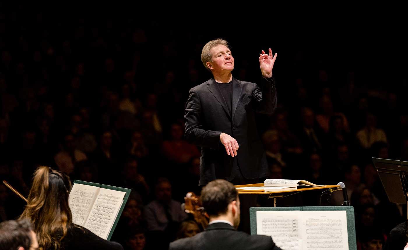 Thierry Fischer, conductor. Photo: Austen Diamond