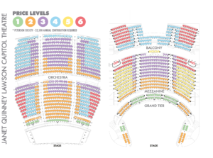 JQ LAWSON CAPITOL THEATRE SEATING MAP