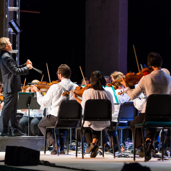 Thierry Fischer leads the Utah Symphony during the 2017 Great American Road Trip Tour. Credit Marc Estabrook
