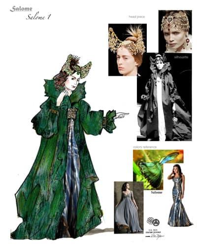 Costume Rendering for Utah Opera's Salome - Salome