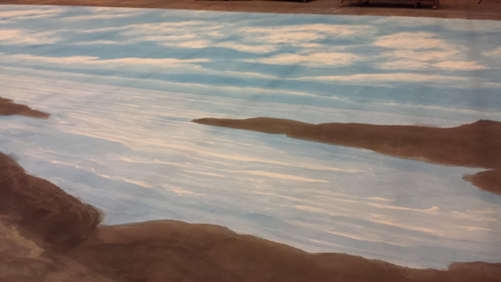 Close up of the ocean detail