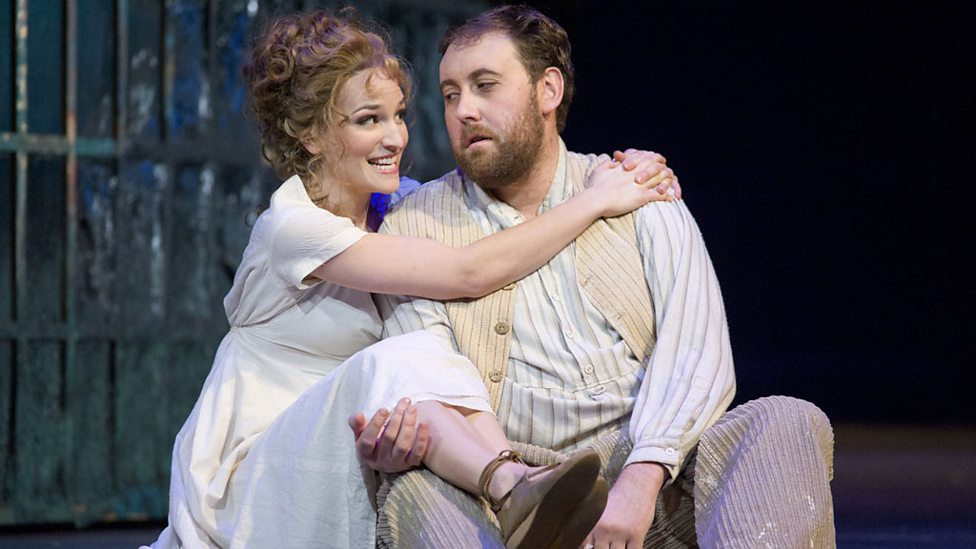 Kate Lindsey as Zerlina and Matthew Rose as Masetto (Royal Opera production, Covent Garden)