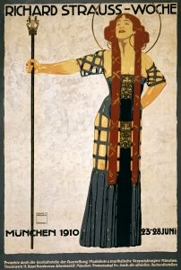 Poster of woman standing with staff
