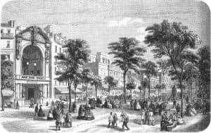 The Théâtre Lyrique on the Boulevard du Temple