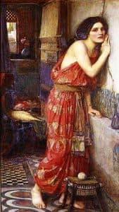 Thisbe, by John William Waterhouse, 1909.
