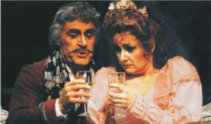 Glade Peterson and Pamela Kucenic Utah Opera's 1989 production of Die Fledermaus.