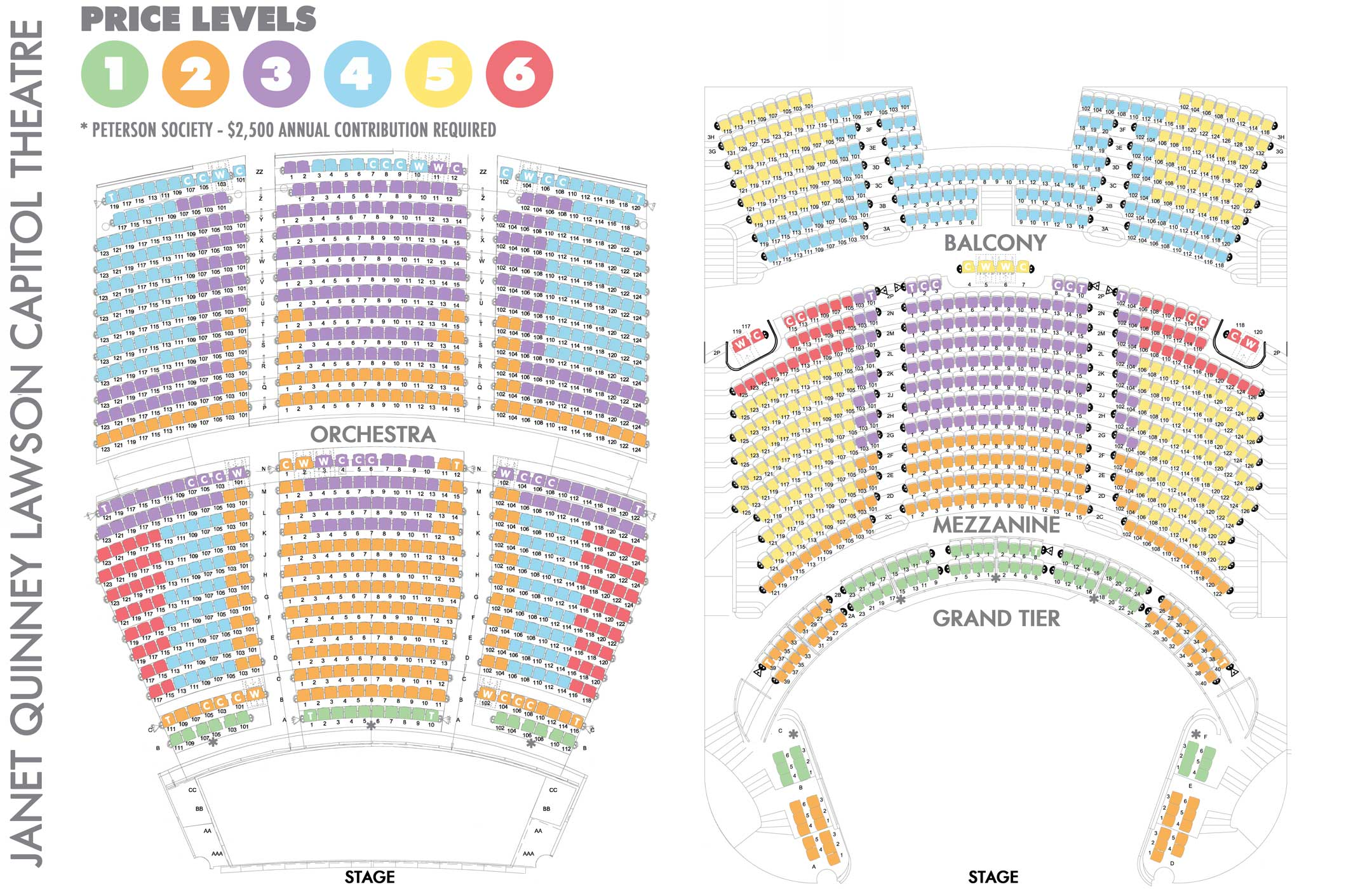 Capital Theater Seating Chart