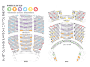 Capitol Theatre Seating Map - Reduced Capacity