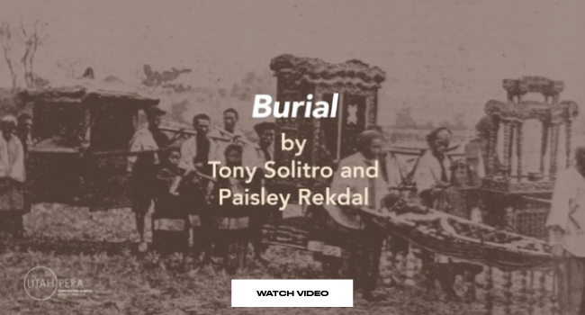 """Burial by Tony Solitro and Paisley Rekdal"""