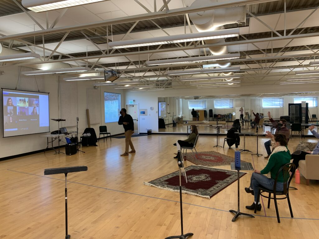 •West High Choirs were the first to experience Utah Opera's Resident Artists' hybrid program blending live (masked) singing and presentation intermixed with screen-shared opera scenes and short operas; they were also the first to see our filmed opera project The Better Man, an opera commissioned by Utah Opera in 2019.
